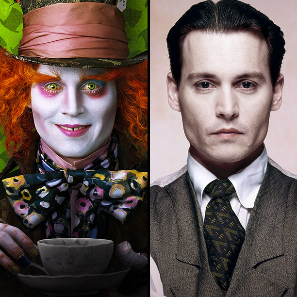 Johnny Depp | Depp is no stranger to pale pancake makeup — it's a staple of his Tim Burton collaborations, from Edward Scissorhands to Dark Shadows . So…