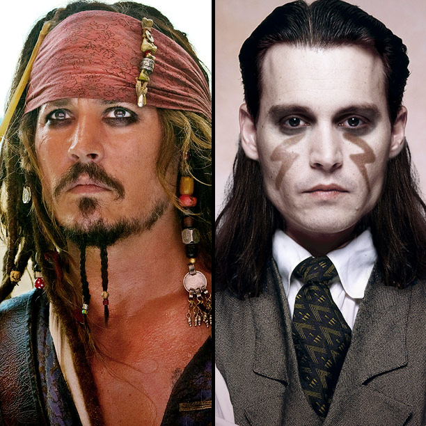 Johnny Depp | Does Tonto's 'do look familiar? It should — though it's dread-free, the wig's length, color, and flair (beads become feathers) recall Captain Jack Sparrow of…