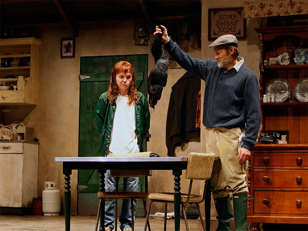 By Martin McDonagh Tarantino-like dialogue and bloodletting feature prominently in a pitch-black comedy about an inept Irish Republican Army splinter group and the killing of…