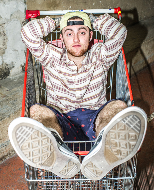 Mac Miller lounges around