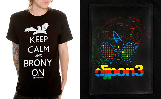 My Little Pony: Friendship is Magic   At left, you'll see what happens when memes collide. At right, a shirt that appears ordinary — until you learn it's fitted with an LED…