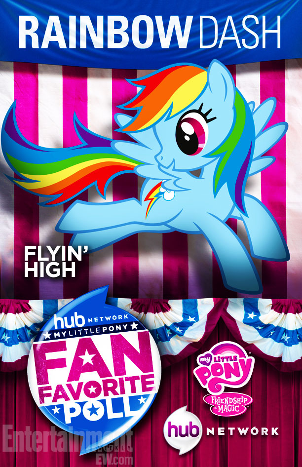 My Little Pony: Friendship is Magic | You can snag these posters at the Hub Network's Comic-Con booth in San Diego this week — then vote for your favorite member of the…
