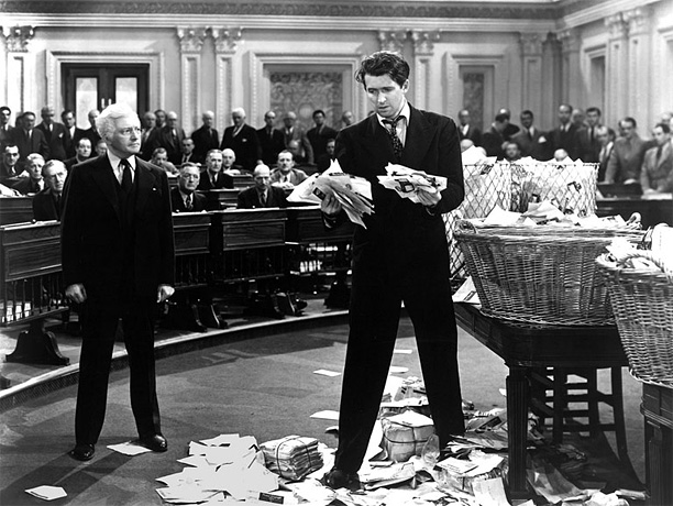 Directed by Frank Capra Anyone who thinks that Capra was a softy should see this wrenching political fable, in which James Stewart, as a novice…