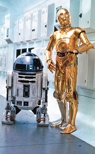 C-3PO, R2-D2, ... | Designed by Ralph McQuarrie, the Laurel and Hardy of the Skywalker universe introduced the term droids . ''They are the perfect odd couple. One is…