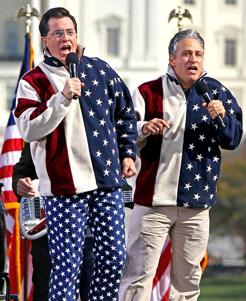 Style, Style: Red Carpet, ... | In 2010, Jon Stewart and Stephen Colbert swathed themselves in our country's colors when they appeared at the ''Rally to Restore Sanity And/Or Fear'' in…