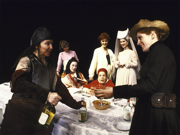 By Caryl Churchill The Thatcher-era look at women's achievements kicks off with an all-star dinner party including a ninth-century female pope, a British explorer, and…