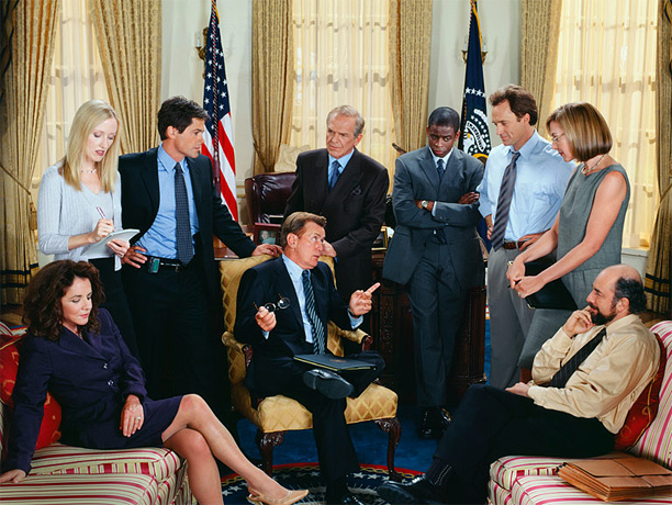 NBC, 1999-2006 Aaron Sorkin and a perfectly cast group of loquacious characters gave us the best walking and talking and debating and flirting and faith-in-government-restoring…