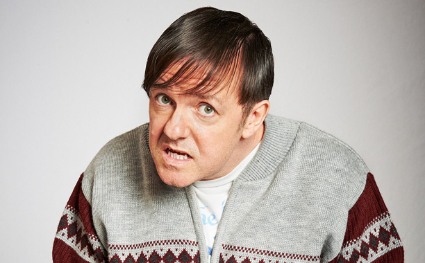 THE 40 YEAR OLD VIRGIN Ricky Gervais stars as Derek, a hapless retirement home employee