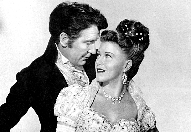 Ginger Rogers, Burgess Meredith | Ginger Rogers didn't always trip the light fantastic. In 1946, she got to inhabit the role of Dolly Madison in the black-and-white flick Magnificent Doll…