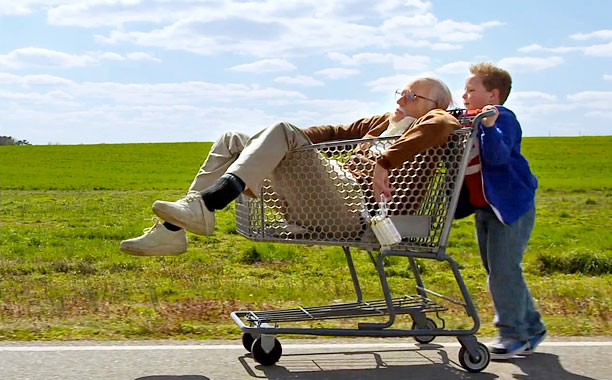 OLD FOLKS ZONE Johnny Knoxville takes a spin as the titular Bad Grandpa in Bad Grandpa