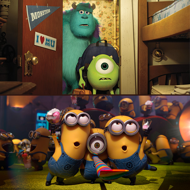 TIE: Monsters University / Despicable Me 2 (46%) Epic (5%) Turbo (2%) Planes (1%)