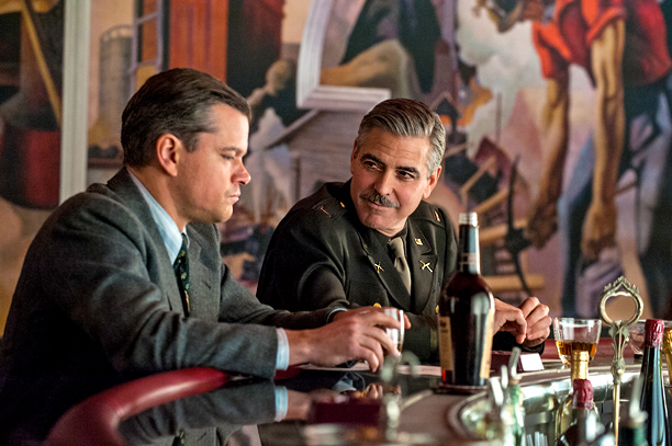 George Clooney has directed a couple of great films. This airless WWII caper isn't one of them. It's the movie equivalent of listening to seven…