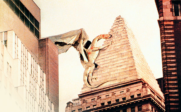 MONSTERS, INC. Manhattan is terrorized by a stop-motion-mutant in Q: The Winged Serpent
