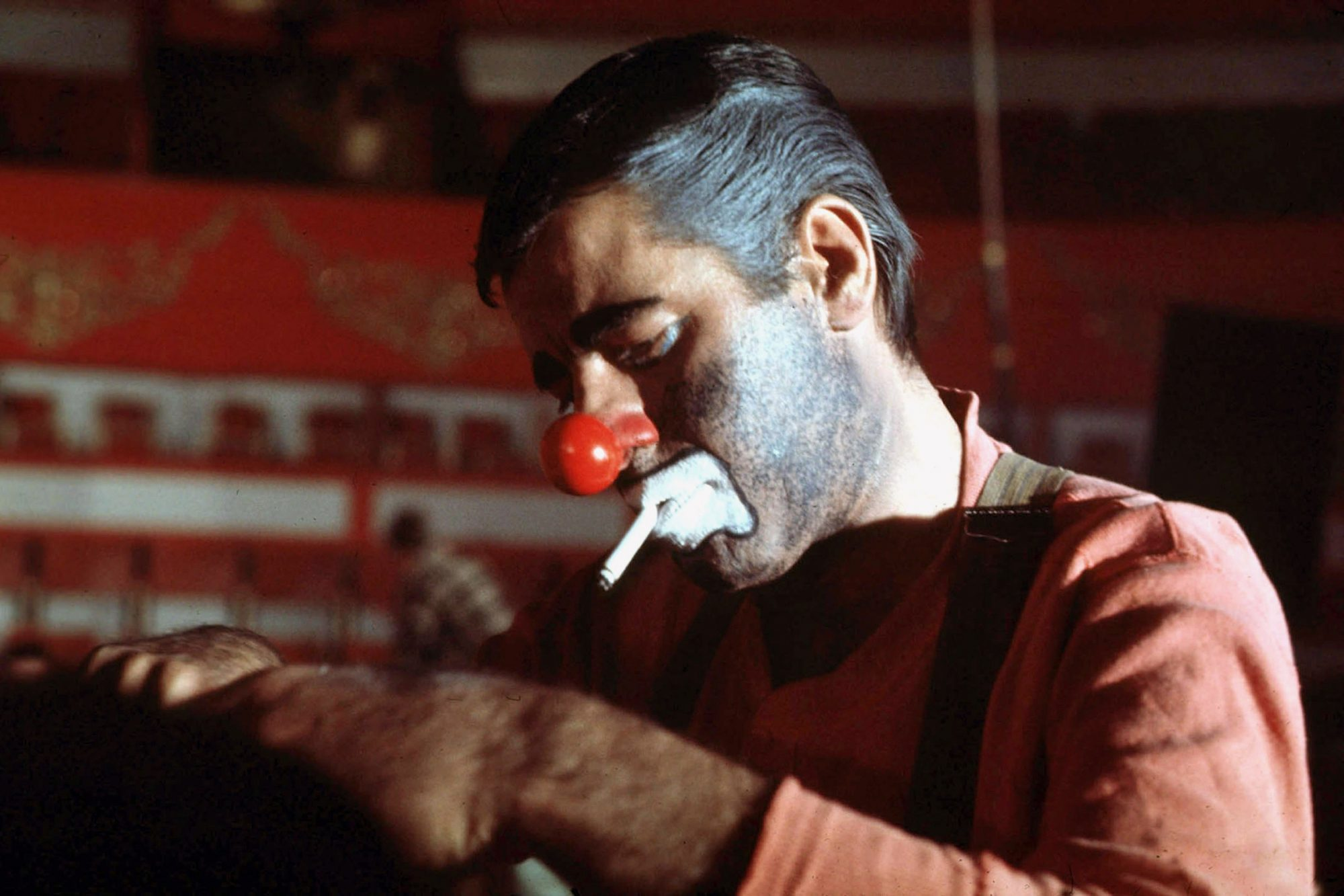 "Jerry Lewis on set of film ""The Day the Clown Cried"" at the Winter Circus in Paris, march 22, 1972 ©"