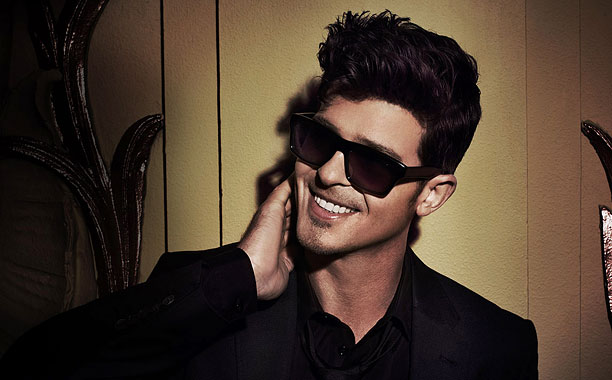 LAYING IT ON THICKE Robin Thicke's brand of sexy-smooth jams is enough to put you straight to sleep.