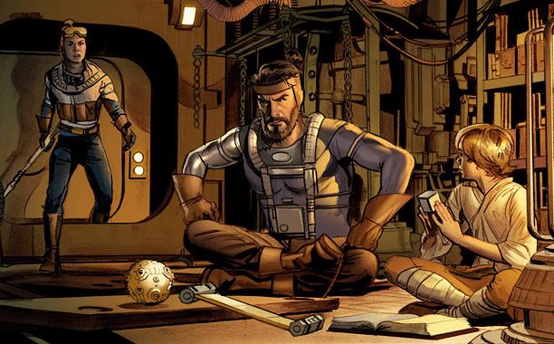 The Star Wars Comic Book Art