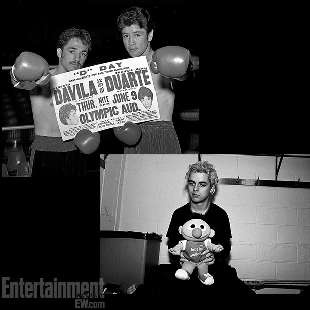 D-Day , Alberto Davila and Frankie Duarte at Olympic Auditorium, 1977; Catherine McGann's shot of Green Day's Billie Joe Armstrong and Ernie from Sesame Street…