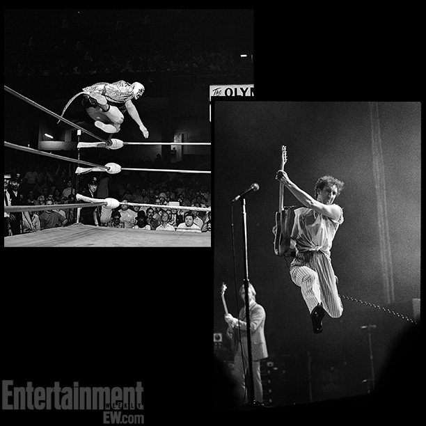 The Leap , Mil Máscaras at Olympic Auditorium, c. 1970; The Who at Chicago's International Ampitheater, shot by Paul Natkin in 1980 ''When I look…
