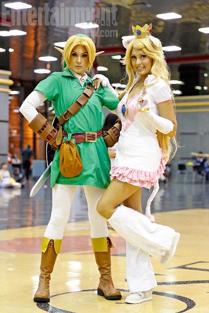 Link and Princess Peach