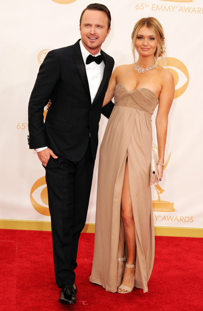 Aaron Paul in Burberry and Lauren Parsekian