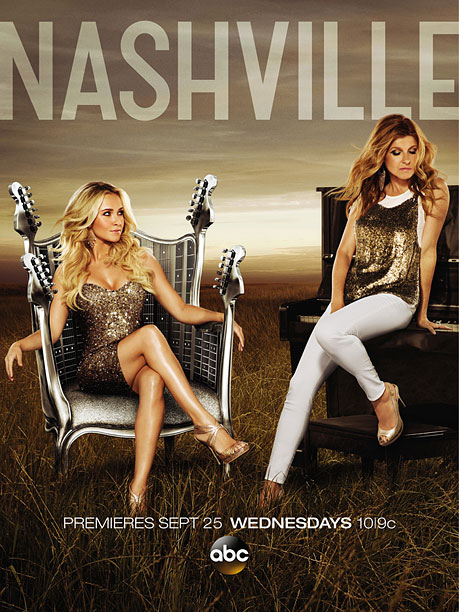 The guitar-chair is back. This year, Hayden Panettiere looking sexy and comfortable upon the iron throne while Connie Britton is booted aside to squat awkwardly…