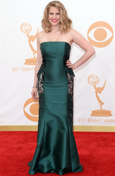 Anna Chlumsky in Badgley Mischka