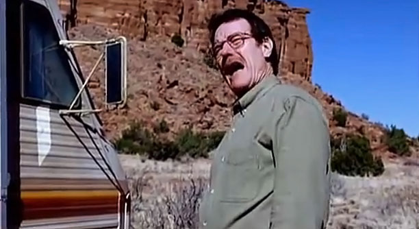 "Jesse explains the ""cow house"" to Walt while they're out in the desert on a cook (season 1) ""It's so much like a dark comedy.…"