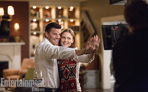 Bones | Los Angeles July 31, 2013 Want to know a secret from the set? Emily Deschanel and David Boreanaz have been known to break into song…