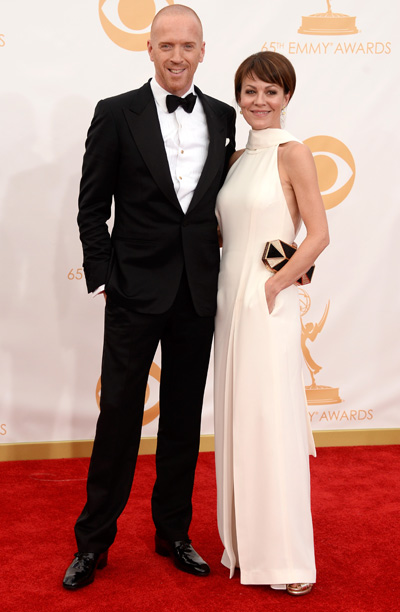 Damian Lewis in Tom Ford and wife Helen McCrory
