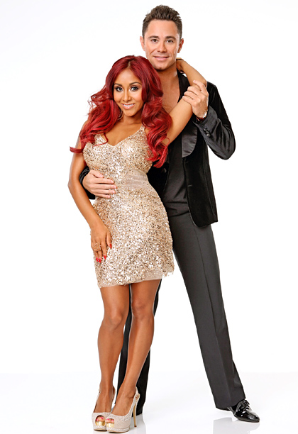 Nicole Polizzi, Dancing With the Stars | Hate to say it, but the Jersey Shore personality and recent mom (!) looks right in her element along with former Troupe member Sasha. Must…