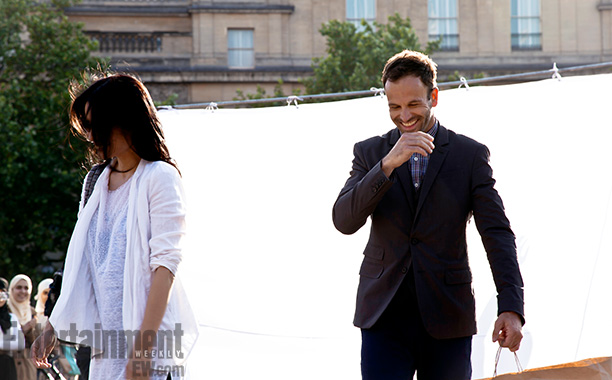 Elementary | London July 10, 2013 While Liu and Miller had fun filming in tourist-friendly Trafalgar Square — ''Our first AD was like, 'Quiet on the set!'…