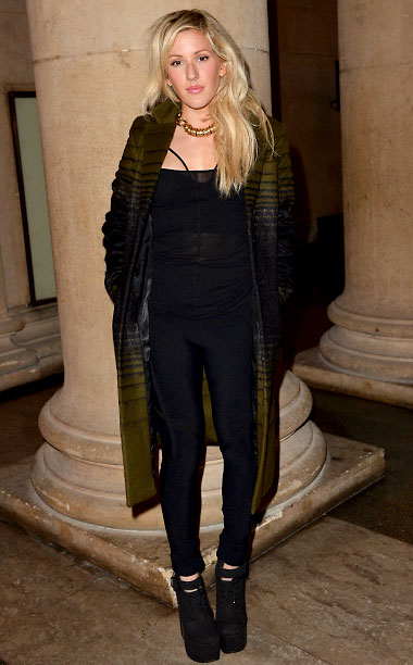 Ellie Goulding at the Jonathan Saunders show in London