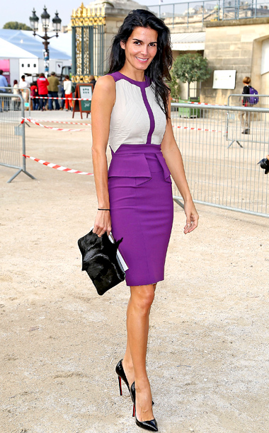 Angie Harmon at the Elie Saab show in Paris