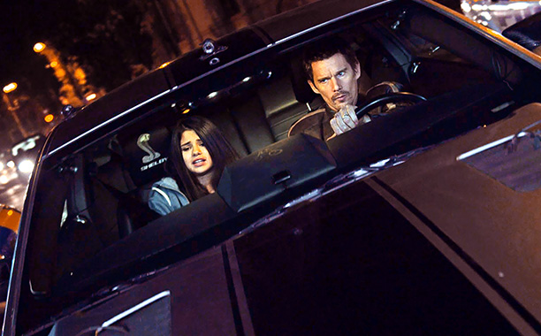 GET AWAY Ethan Hawke and Selena Gomez star in Getaway , although they may wish they hadn't