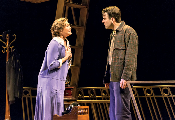 THE GLASS MENAGERIE Cherry Jones and Zachary Quinto