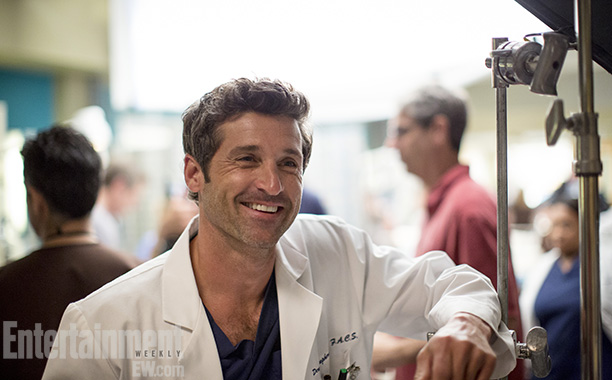 Grey's Anatomy | Los Angeles July 23, 2013 Patrick Dempsey is spending more time with infants than interns these days. After longtime couple Derek (Dempsey) and Meredith (Ellen…