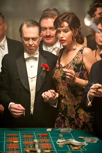 Steve Buscemi, Boardwalk Empire | In Prohibition-era Atlantic City, a complex constellation of bootlegging gangsters, morally compromised government agents, and horse-trading politicos orbit around Nucky Thompson (Steve Buscemi, in a…