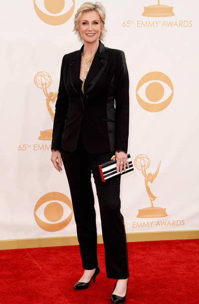 Jane Lynch in Badgley Mischka