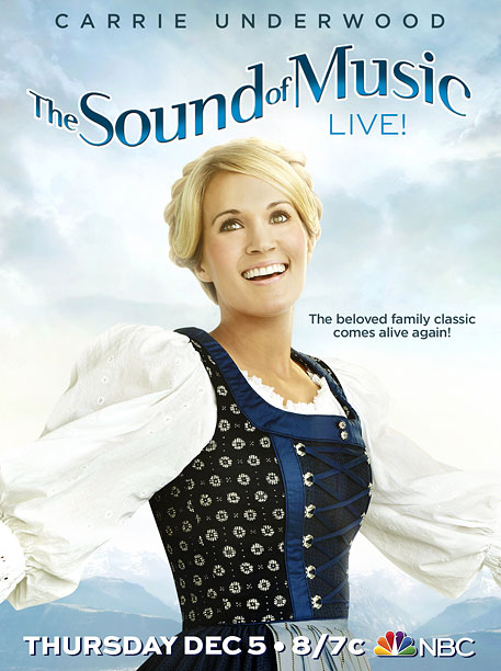 Speaking of almost human: Carrie Underwood channeling Julie Andrews is f---ing creepy. Her eyes look robotic. That tagline doesn't help since it implies something is…