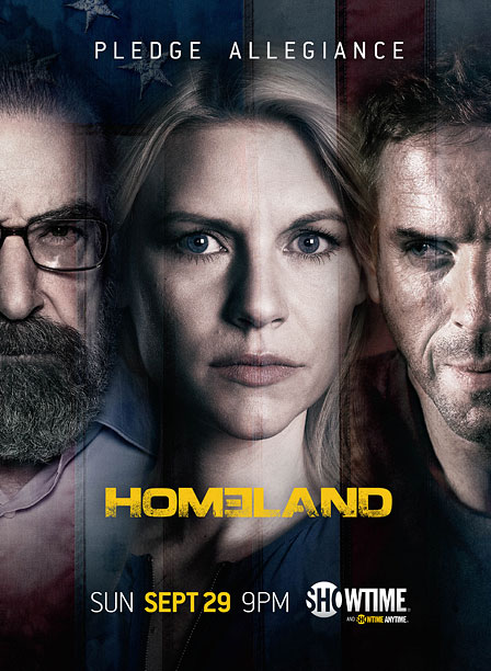 Saul is on the poster now! Deservedly so. Brody looks creepy and dirty. But that tagline: ''Pledge Allegiance.'' To what? To Homeland ? Don't let…