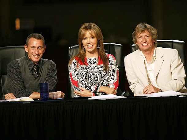 Adam Shankman, Nigel Lythgoe, ... | We can all get on the hot-tamale train with Mary Murphy and her mates at the judges' table here.