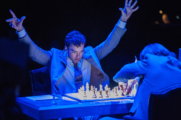 RAGE AGAINST THE MACHINE Hadley Fraser and Kenneth Lee star in The Machine , the dazzling story of a chess match with IBM's Deep Blue