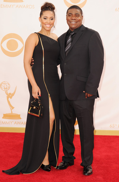 Tracy Morgan in Kenneth Cole and fiancee Megan Wollover