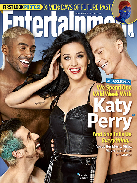 Katy Perry | For more on Katy Perry's wild world, pick up a copy of EW on newsstands today or buy it online now .