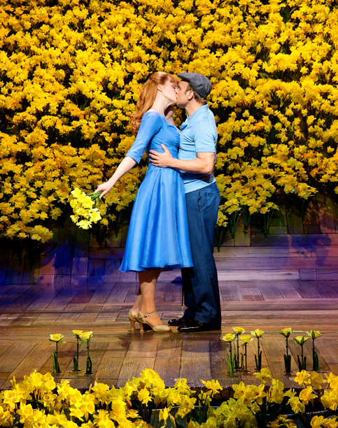 GIVE OUR REGARDS TO TIM BURTON Kate Baldwin and Norbert Leo Butz in Big Fish , a delightfully old-fashioned Broadway musical inspired by 2003 film