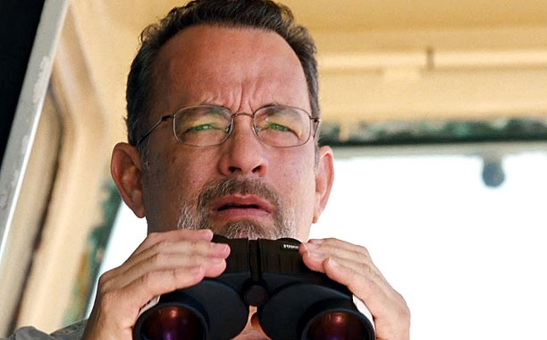 O CAPTAIN! MY CAPTAIN! Tom Hanks as Captain Phillips in the similarly named film about the true story of a Somalian raid in 2009