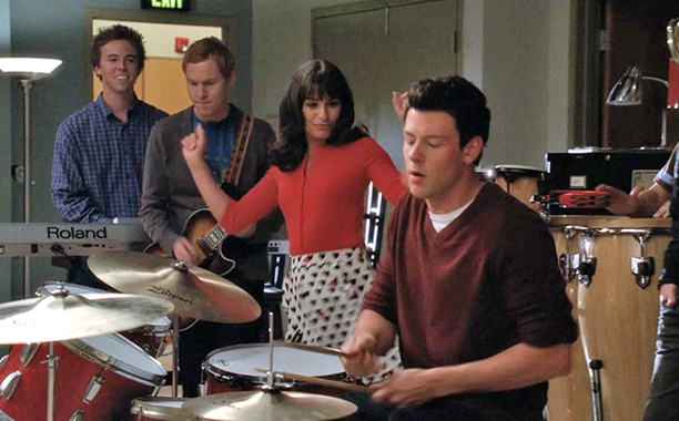 Glee, Cory Monteith | From ''Duets'' (season 2, episode 4) Monteith's best was once again on his beloved drums. His bouncy beat took a frothy choir-room treat to the…
