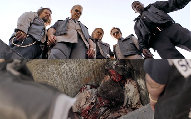 Sons of Anarchy | ''Pilot'' (season 1, episode 1) RIP: Two ladies on the night shift Death by: Fire Reason: The series' first casualties were two illegal female immigrants…