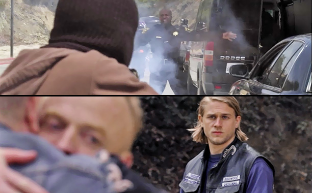 Sons of Anarchy | ''AK-51,'' (season 1, episode 6) RIP: Cop, innocent bystanders, and Nate Meineke's militia Death by: Bullets, Explosives Reason: Jax helped Opie's father Piney (William Lucking),…