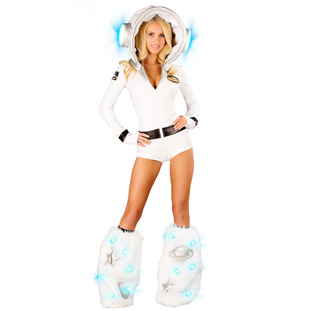 Excuse me; that's ''Deluxe Sexy Astronaughty Costume.'' P.S. The legwarmers are sold separately?and they cost $58.95.